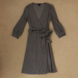 Banana Republic Herringbone Wrap Dress